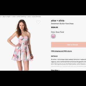 Alice ➕ Olivia Sweetheart Bustier Flare Dress